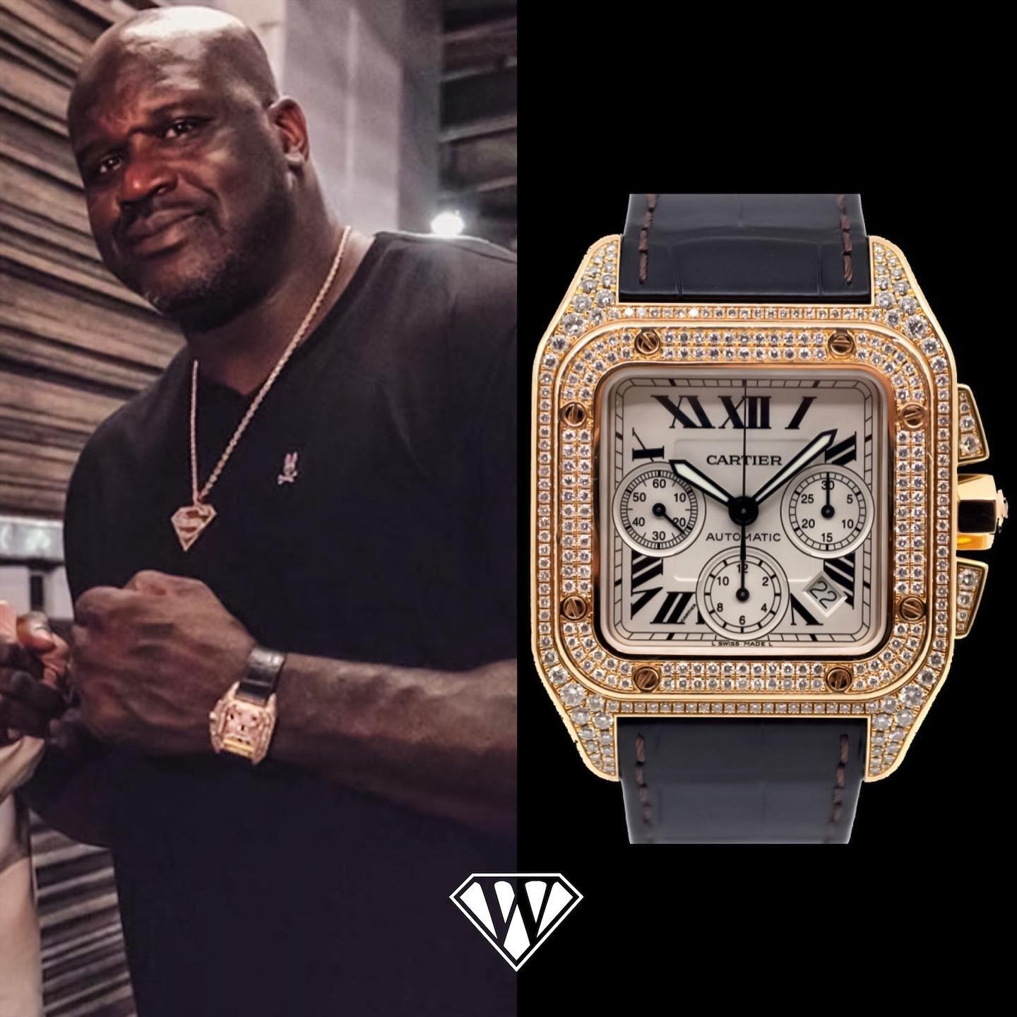 Shaquille ONeal Dialond Cartier