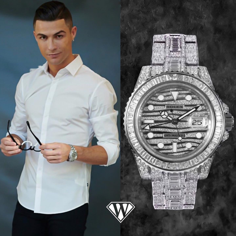 Cristiano Ronaldo Rolex GMT Master II Full Pave Diamonds