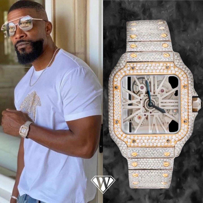 Jamie Fox Diamond Cartier Watch