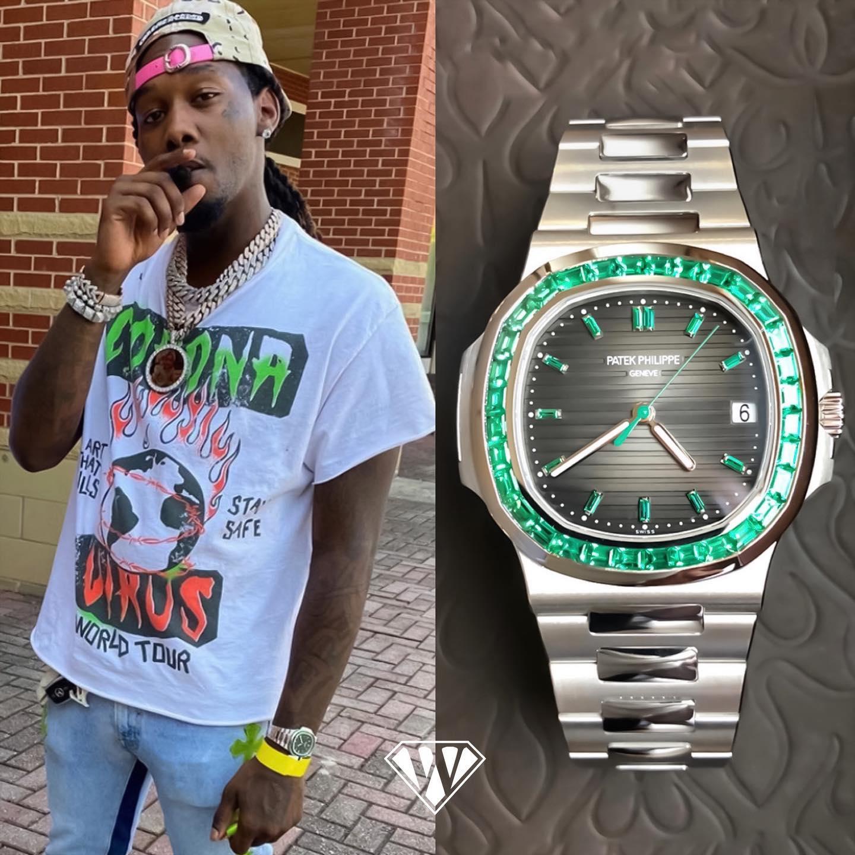 Rapper Offset Emerald Patek Philippe Nautilus