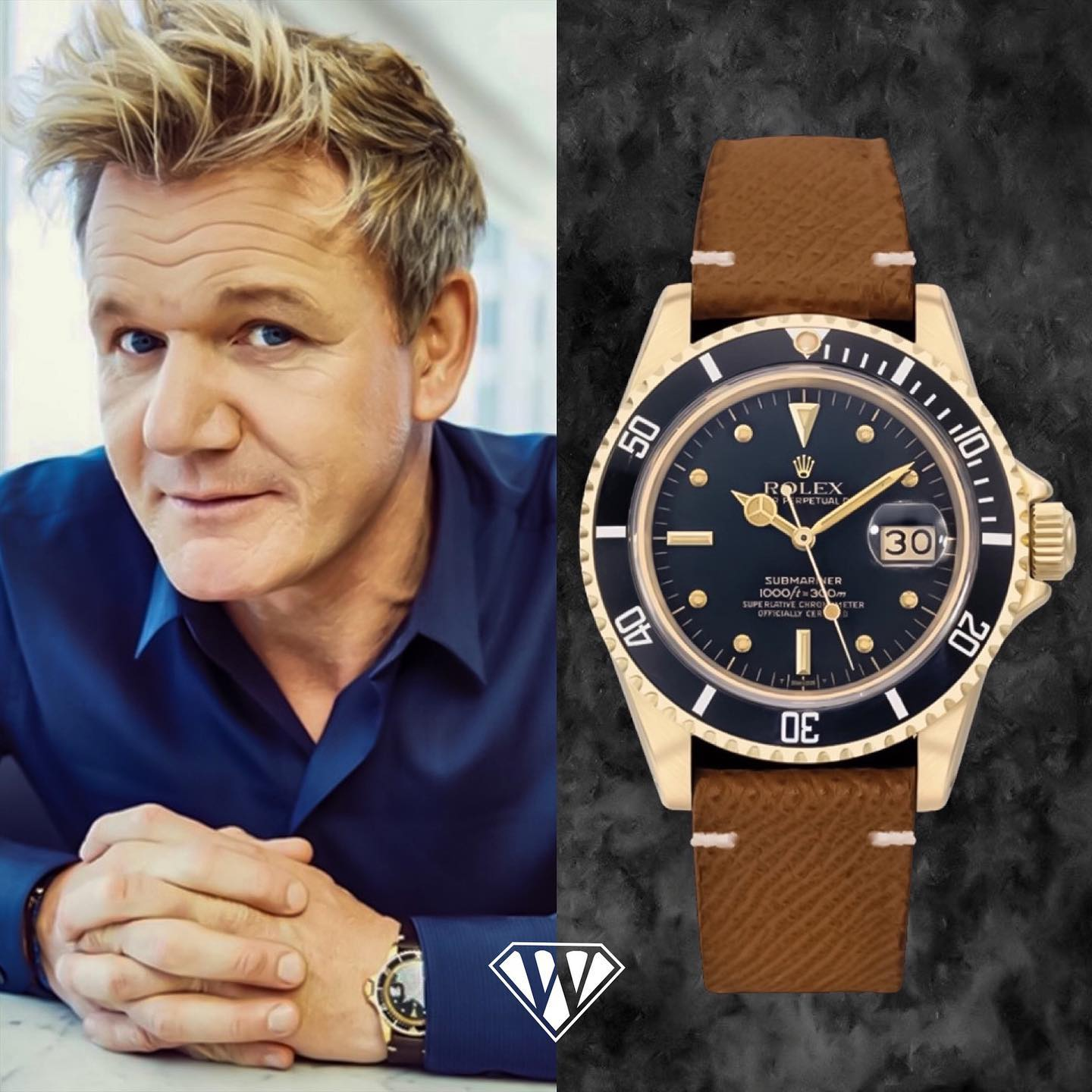 Gordon Ramsay Rolex Submariner Nipple Watch