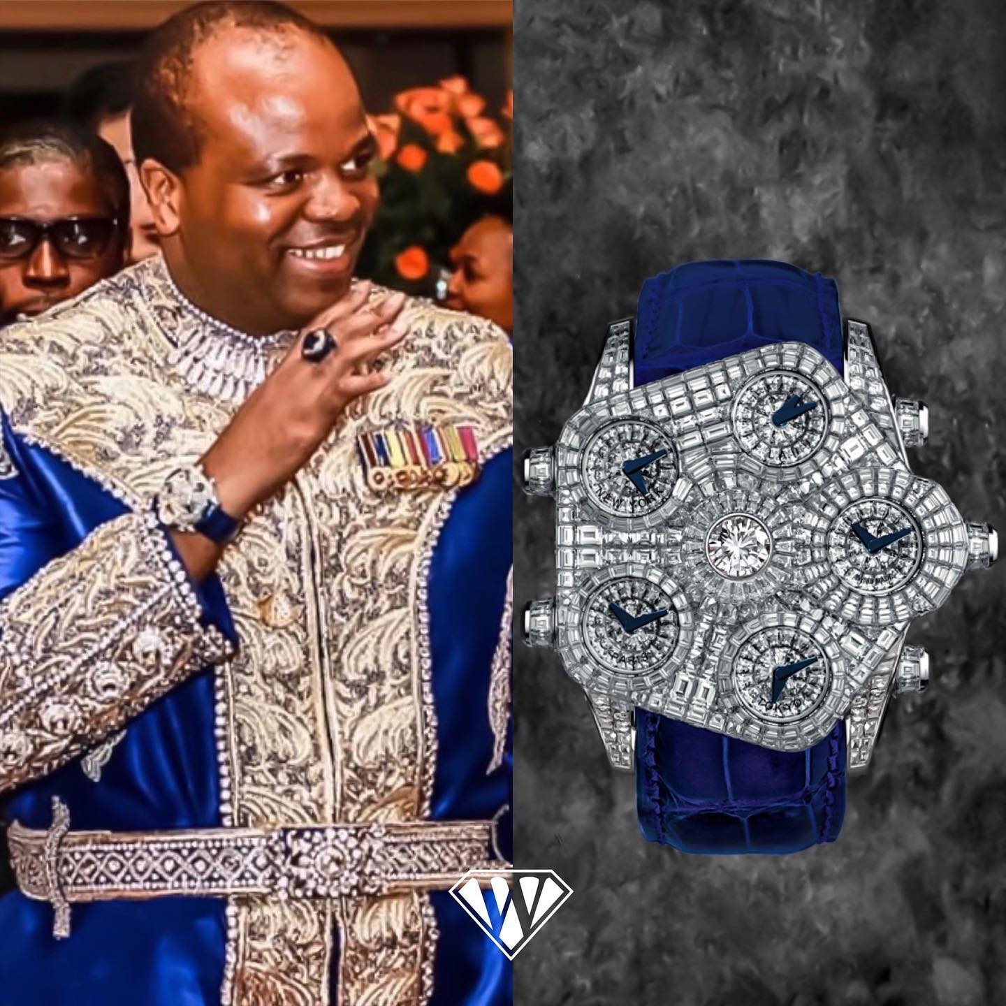 King MswatiIII Of Swaziland Jacobandco Watch