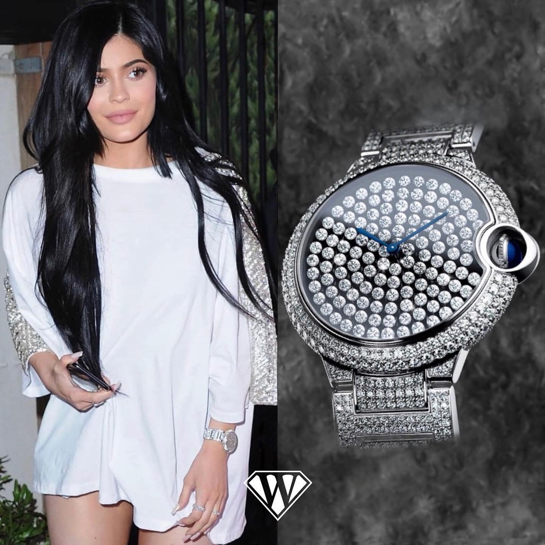 Kylie Jenner Diamond Cartier Watch