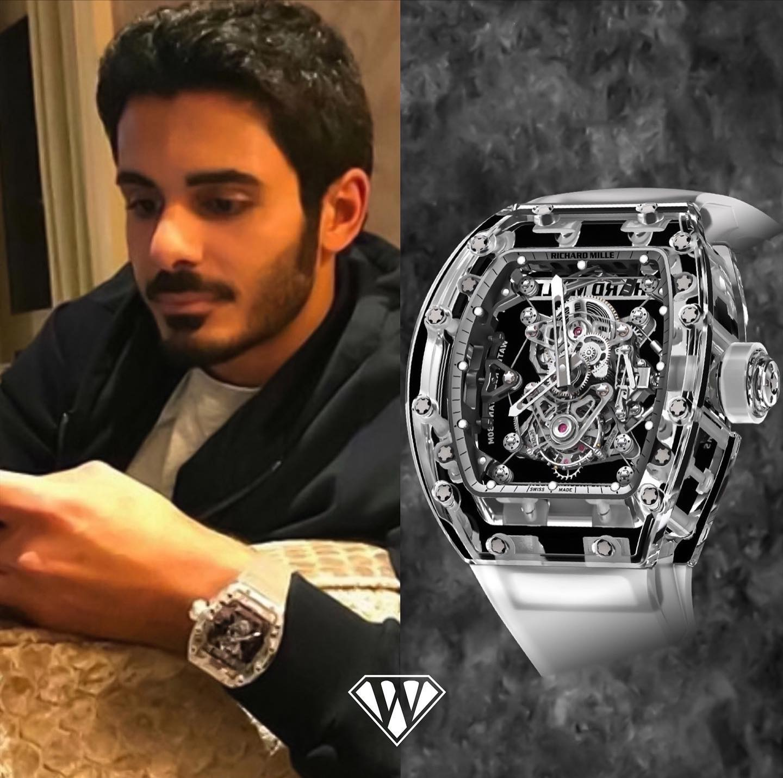 Prince OfQatar Richard Mille Sapphire Watch