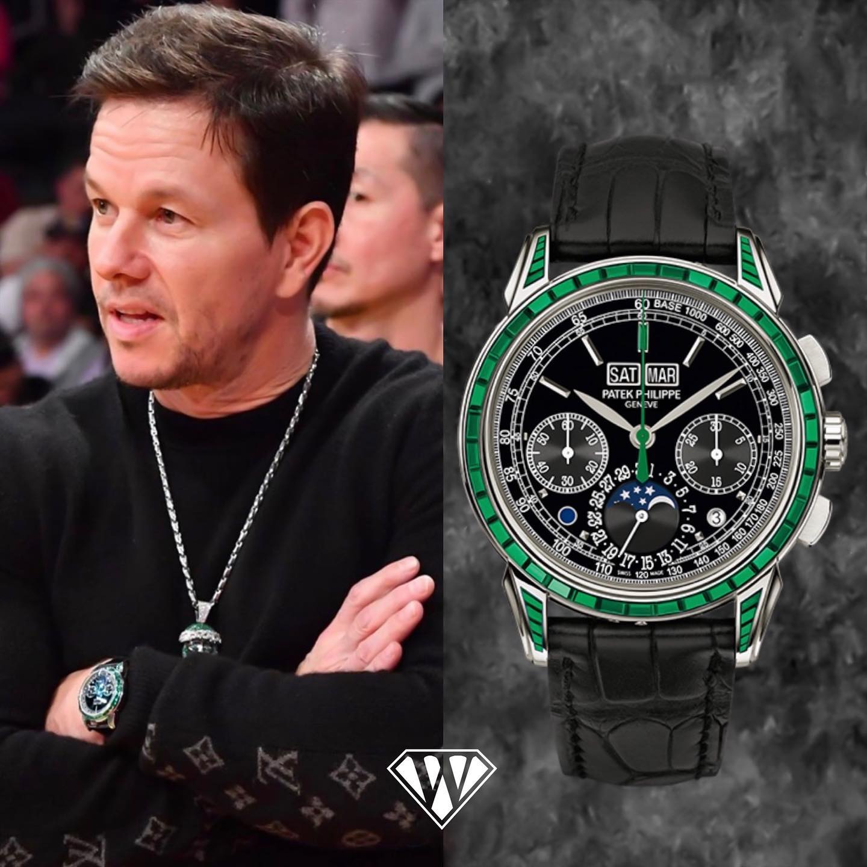 Mark Wahlberg PatekPhilippe Emerald Watch