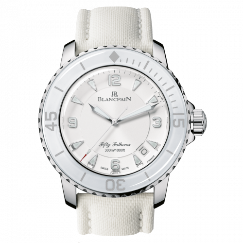 Fifty Fathoms Automatique Stainless Steel / White / White Canvas