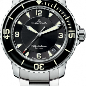 Fifty Fathoms Automatique Stainless Steel / Black / Bracelet