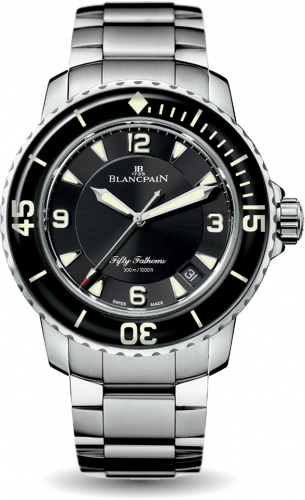 Fifty Fathoms Automatique Stainless Steel / Black / Bracelet