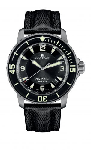 Fifty Fathoms Automatique Titanium / Black / Canvas
