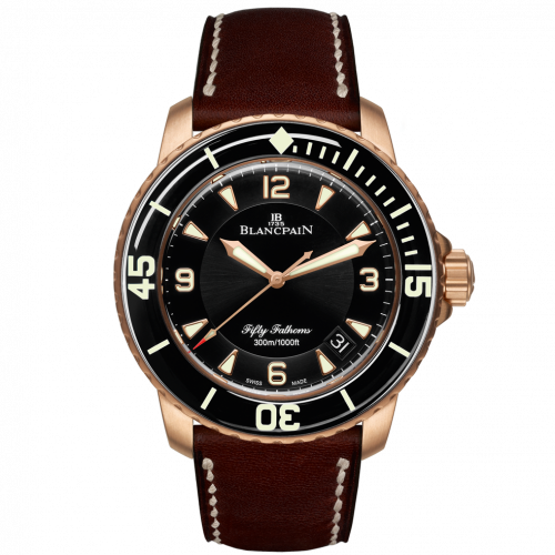 Fifty Fathoms Automatique Red Gold / Black / Brown Barennia