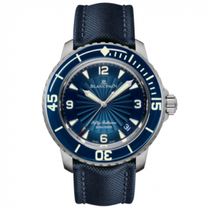 Fifty Fathoms Automatique Stainless Steel / Blue / Blue Canvas