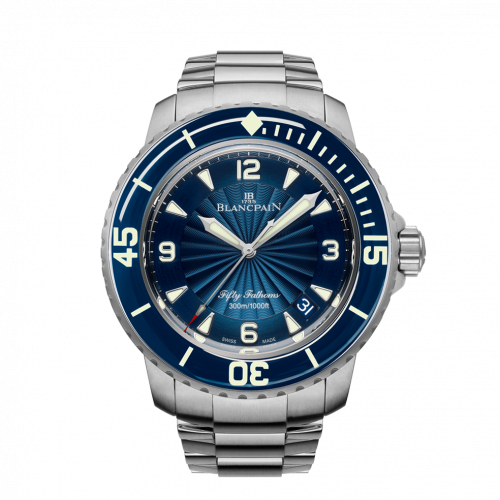 Fifty Fathoms Automatique Stainless Steel / Blue / Bracelet