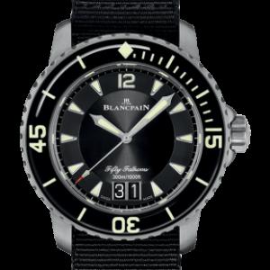 Fifty Fathoms Automatique Grande Date Titanium / Black / Black NATO