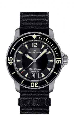 Fifty Fathoms Automatique Grande Date Titanium / Black / Black NATO