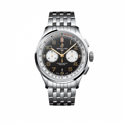 Premier B01 Chronograph 42 Stainless Steel / Norton Edition  / Nubuck / Bracelet