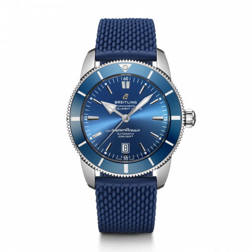 Superocean Heritage II 46 Stainless Steel / Blue / Blue / Aero Classic