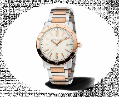 Bulgari Solotempo 41.5 Two Tone White Bracelet
