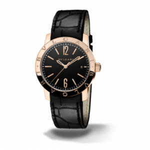 Bulgari Solotempo 39 Pink Gold Black
