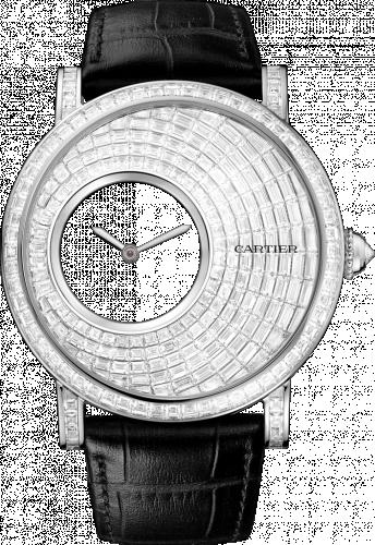 Rotonde de Cartier Mysterious Hour White Gold / Baguette