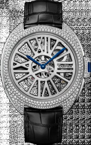 Clé de Cartier 41 Skeleton Automatic Palladium / Diamond