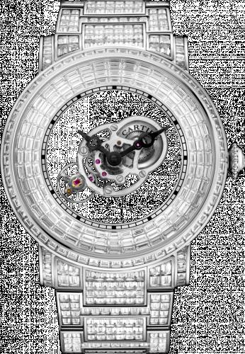 Rotonde de Cartier Astromystérieux Platinum / Baguette / Bracelet