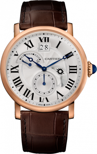 Rotonde de Cartier Second Time Zone Day / Night Pink Gold / Silver