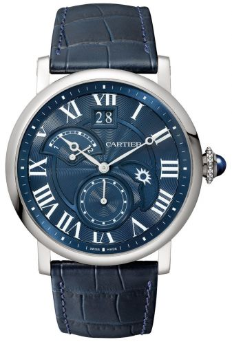 Rotonde de Cartier Second Time Zone Day / Night White Gold / Blue