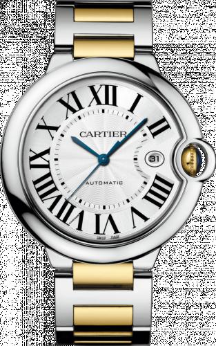 Ballon Blue de Cartier 42 Automatic Stainless Steel / Yellow Gold / Silver / Bracelet