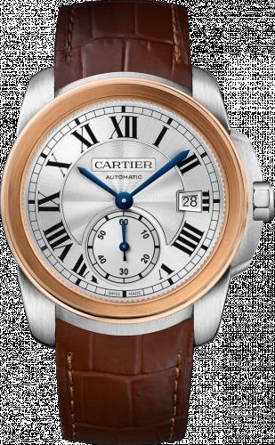 Calibre de Cartier 38 Stainless Steel / Pink Gold / Silver