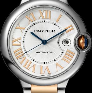 Ballon Blue de Cartier 42 Automatic Stainless Steel / Pink Gold / Silver / Bracelet