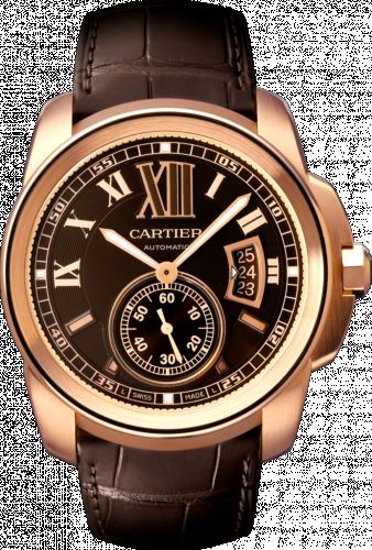 Calibre de Cartier 42 Pink Gold / Chocolate