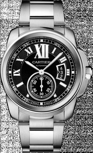 Calibre de Cartier 42 Stainless Steel / Black / Bracelet