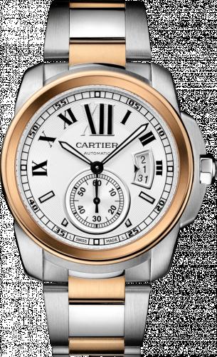 Calibre de Cartier 42 Stainless Steel / Pink Gold / Silver / Bracelet