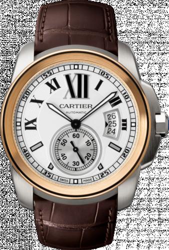 Calibre de Cartier 42 Stainless Steel / Pink Gold / Silver