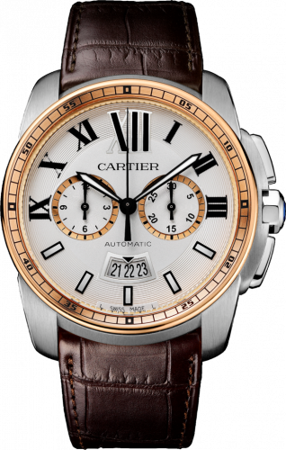 Calibre de Cartier Chronograph Stainless Steel / Pink Gold / Silver