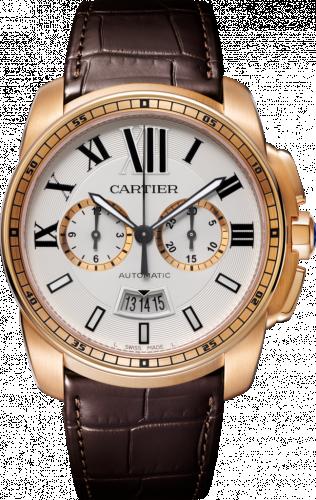 Calibre de Cartier Chronograph Stainless Pink Gold / Silver