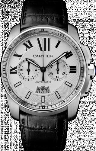 Calibre de Cartier Chronograph Stainless Steel / Silver