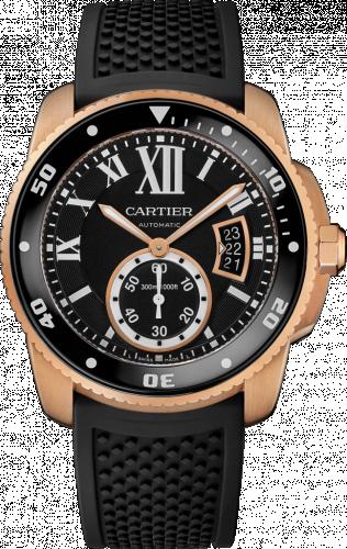 Calibre de Cartier Diver Pink Gold / Black