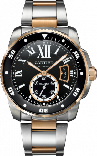 Calibre de Cartier Diver Stainless Steel / Pink Gold / Black / Bracelet