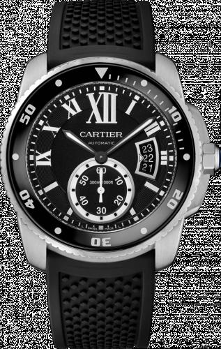 Calibre de Cartier Diver Stainless Steel / Black / Rubber