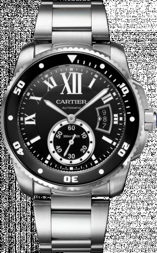 Calibre de Cartier Diver Stainless Steel / Black / Bracelet