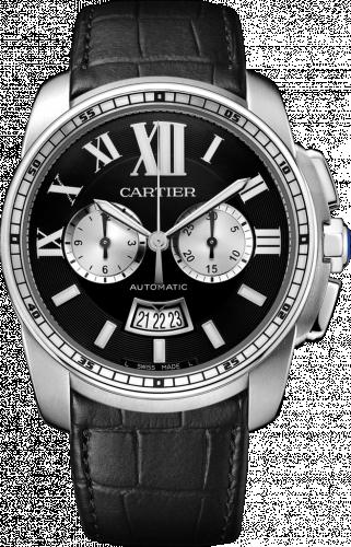 Calibre de Cartier Chronograph Stainless Steel / Black
