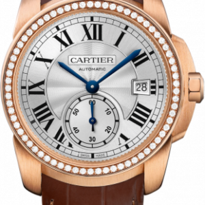 Calibre de Cartier 38 Pink Gold / Silver / Diamond