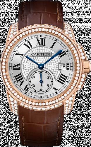 Calibre de Cartier 38 Pink Gold / Silver / Full Diamond