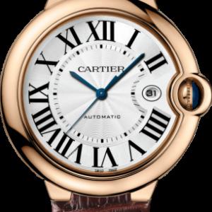 Ballon Blue de Cartier 42 Automatic Pink Gold / Silver