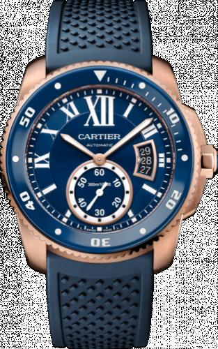 Calibre de Cartier Diver Pink Gold / Blue