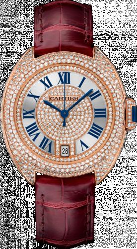 Clé de Cartier 35 Pink Gold / Full Diamonds / Red