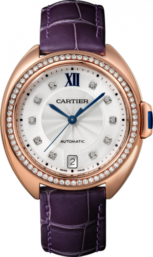 Clé de Cartier 35 Pink Gold / Diamonds / Purple
