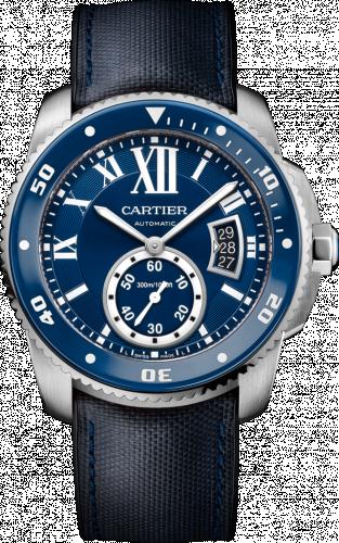 Calibre de Cartier Diver Stainless Steel / Blue / Rubber