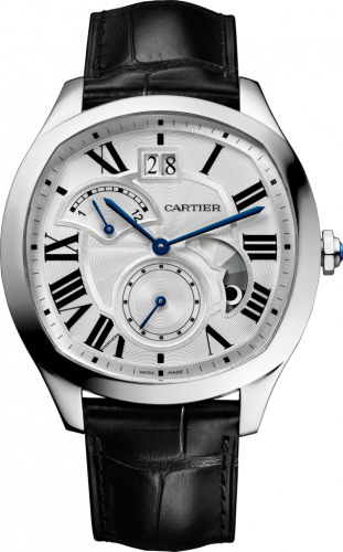 Drive de Cartier Second Time Zone Day / Night Stainless Steel / Silver